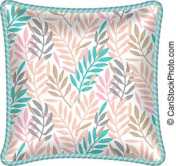 Patterned decorative pillow cushion