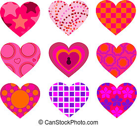Patterned Hearts