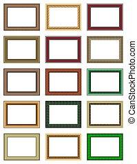 frames - Patterned hollow frames