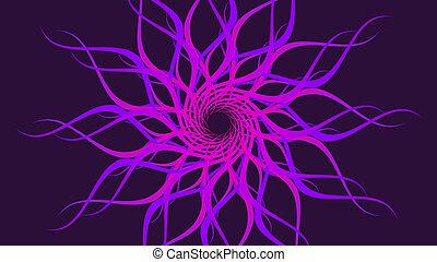 patterned, kleurrijke, ronddraaien, golven, paarse , achtergrond., abstract, spiraal