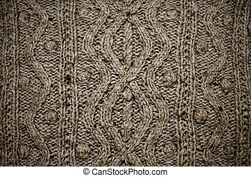 patterned knitted fabric in Irish style