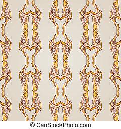 Patterned lines - Parallel symmetrical beige patterns....