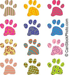 patterned paws - artistic abstract patterned paw wallpaper...