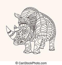 Patterned rhino