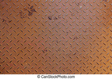 Patterned Rusty Metal Surface