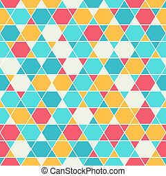 Patterned six-rays star background - Seamless pattern with...