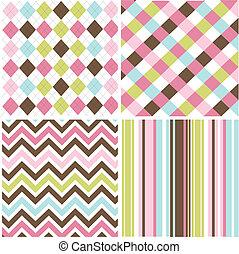 patterns, бесшовный, текстура, ткань