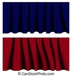 patterns., abbildung, vektor, vorhang, seide, dein, design.