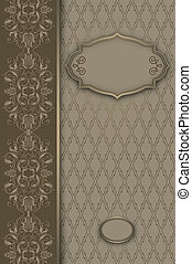 patterns., decoratief, achtergrond, floral, frame
