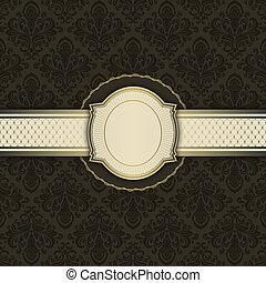 patterns., decoratief, achtergrond, frame, ouderwetse
