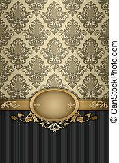 patterns., decoratief, achtergrond, ouderwetse , elegant