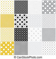 patterns:, géométrique, carrés, seamless