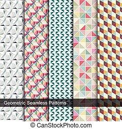 patterns., mozaïek, kleurrijke, seamless