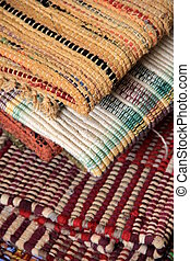 Patterns of colorful rugs