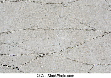 Patterns of cracked concrete surface in view