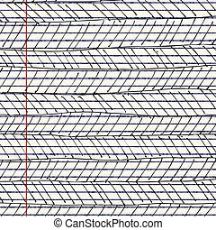 Patterns on a sheet of lined paper