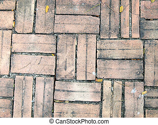 patterns on the brick walkway