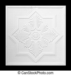 gypsum - Patterns on the ceiling gypsum sheets of white ...