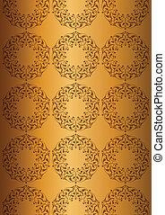 Patterns over golden background