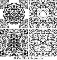 Patterns set with circle ornaments