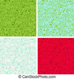 patterns., weihnachten, fröhlich, seamless