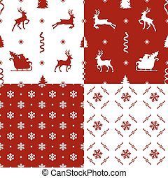 patterns with reindeer