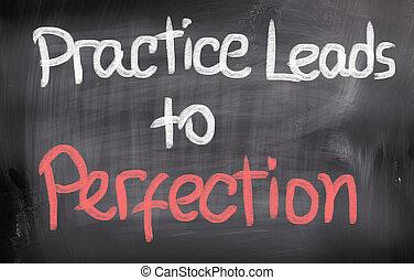 pattes, pratique, concept, perfection
