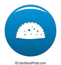 Pattie icon blue - Pattie icon blue circle isolated on white...