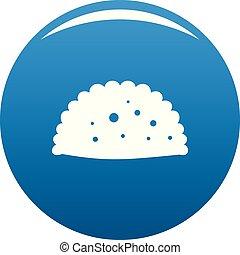 Pattie icon blue vector - Pattie icon vector blue circle...