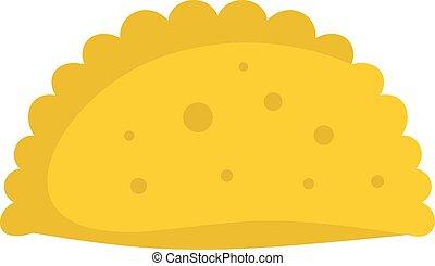 Pattie icon, flat style - Pattie icon. Flat illustration of...
