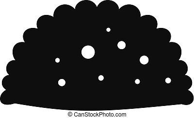 Pattie icon, simple black style - Pattie icon. Simple...