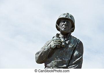 patton, statue, général