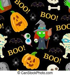 patttern for Halloween - Seamless patttern of cartoon ...