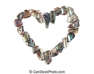 Paua Shell Heart