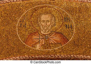 Paul Mosaic at Chora Church in Istanbul