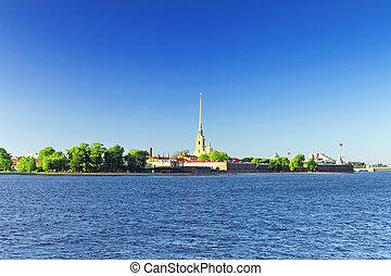 paul, peter, fortress., saint-petersburg., rusia