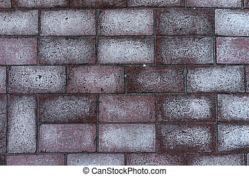 Paul rectangular red brick with white spots