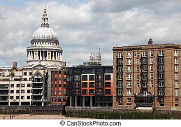 paul, st., tamiza, katedra, londyn, nadrzecze