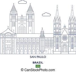 paulo, horizonte cidade, san, brasil