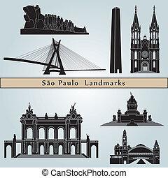 paulo, repères, sao, monuments