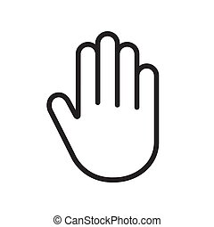 paume, main, humain, icône
