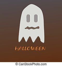 pauroso, fantasmi, halloween
