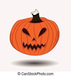 pauroso, halloween zucca, faccia