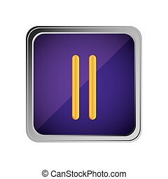 pause button icon with background purple