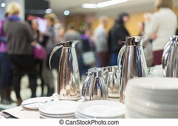 pause-café, réunion, business