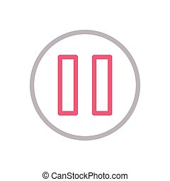 pause color line icon