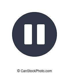 pause  glyph color icon