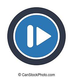 pause glyph color vector icon