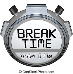 pause, horloge, repos, coupure, minuteur, temps, chronomètre