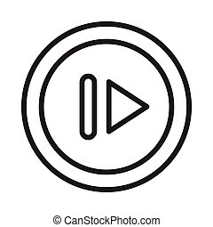 pause thin line vector icon